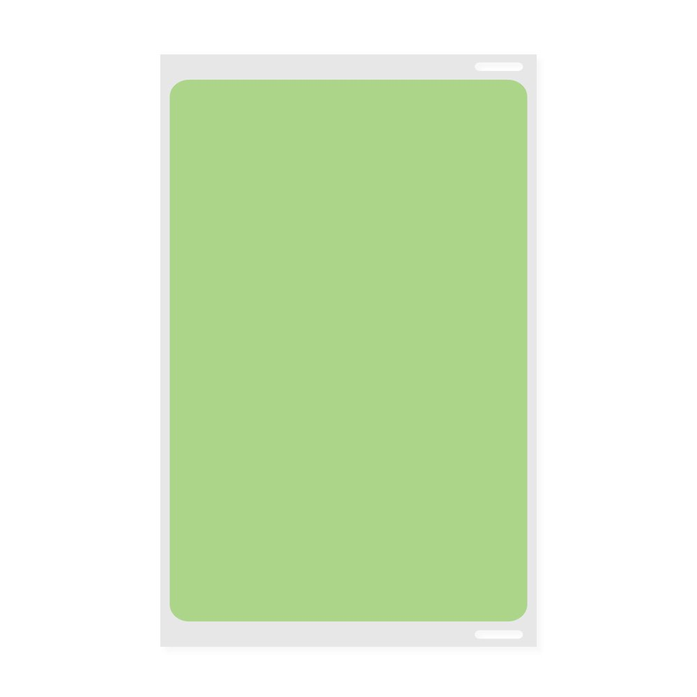 PDC Healthcare SJCSLPG5 Visitor Pass Label, Compatible with Dymo Printer, Direct Thermal Paper, Permanent, 1'' Core, 2 5/16'' x 4'', Light Green (Pack of 300)