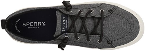 Crest Sperry Para Zapatillas Vibe Linen Negro Mujer ZW6dOqvw
