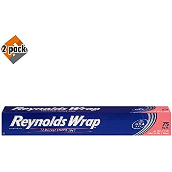 Reynolds Wrap Standard Aluminum Foil, 75 Square Feet - Pack 2