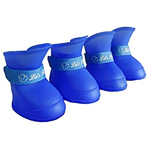 Pawzone Royal Blue Gummy Dog Shoes (Medium)