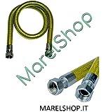 4 metri tubo flessibile 1 2 ff gas inox a norma en 15266 4 mt per cucina piano cottura amazon - Tubo flessibile gas cucina normativa ...