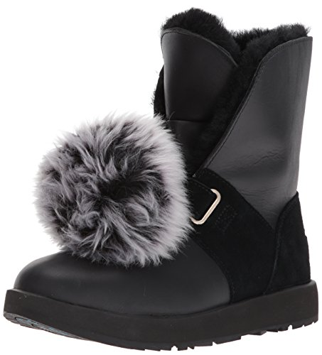 UGG Women's Isley Waterproof Winter Boot, Black, 8 M US
