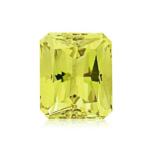Mysticdrop 5.72-7.00 Cts of 14x10 mm AAA Emerald Cut-Radiant Lemon Citrine (1 pc) Loose Gemstone - Lemon Citrine Gemstone