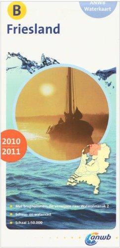 Wasserkarte B Friesland 1:50 000 (ANWB waterkaart)