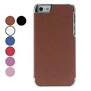 Solid Color Lichee Pattern Hard Case for iPhone 5/5S (Assorted Colors) --- COLOR:Black