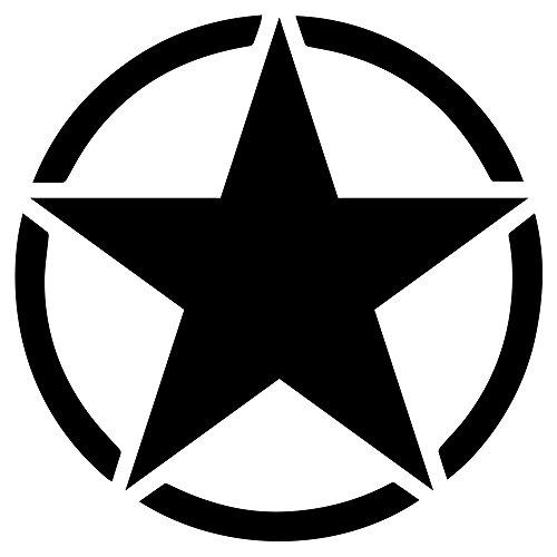 Dion Wear Army Star WWII Vinyl Decal Sticker 3 Inch Black
