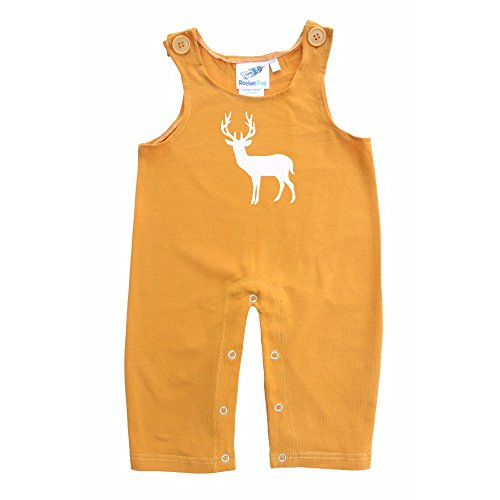 Baby and Toddler Overalls-Deer (3-6 months, Mustard)