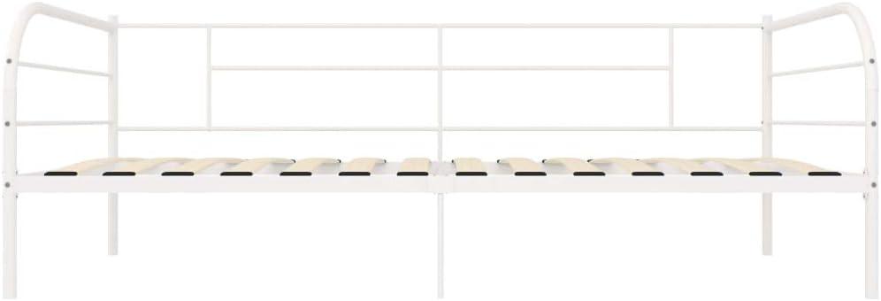 Irfora Tagesbett-Rahmen Metallrahmen Bettrahmen Jugendbett G/ästebett Bett Wei/ß Metall 90/×200 cm