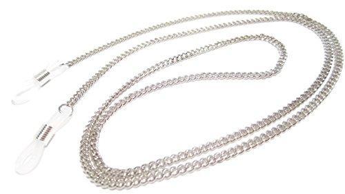 ATLanyards SET of 2 SILVER Chain Eyeglass Holders- Silver Plated Brass Chain Eyeglass Holders