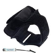 Premium Sport Armband Case for Sony Xperia T2 Ultra - Black + Mini Touch Screen Stylus