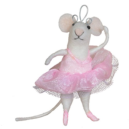 HomArt Felt Ballerina Mouse Ornament -  95051-0