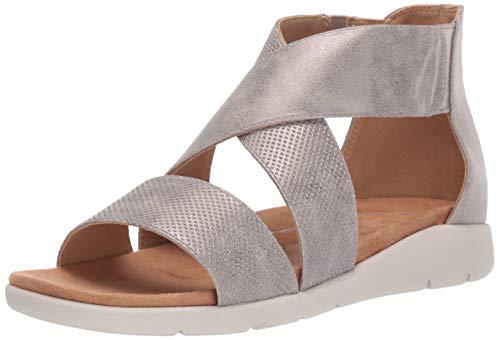 Rockport Women's CL Eileen 2 Piece Sandal Taupe Metal 6.5 M US (Rockport Ladies Sandals)