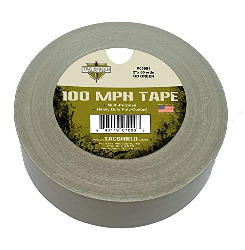 Tac Shield 100 MPH Tape, OD Green, 10 yd