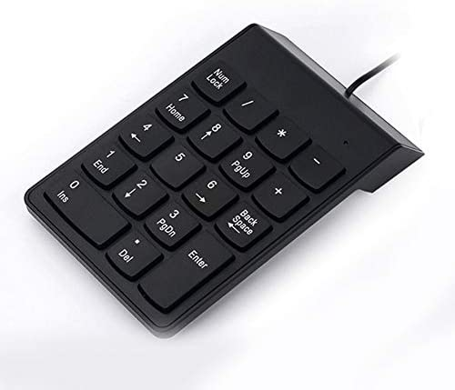 Yencoly Number Pad 5FT USB Wired 19 Keys Numeric Keypad Number Pad for Windows Laptop Desktop PC Natural Keyboard Wired Numeric keypad 1.5M