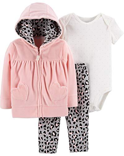 - Carter's Baby Girls' 3-Piece Little Jacket Sets (Pink/Cheetah, 24 Months)