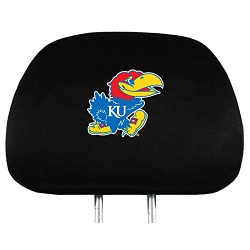 - NCAA Kansas Jayhawks Head Rest Covers, 2-Pack