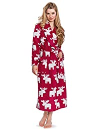 Cozy & Curious Women's Long Soft Chenille Robe