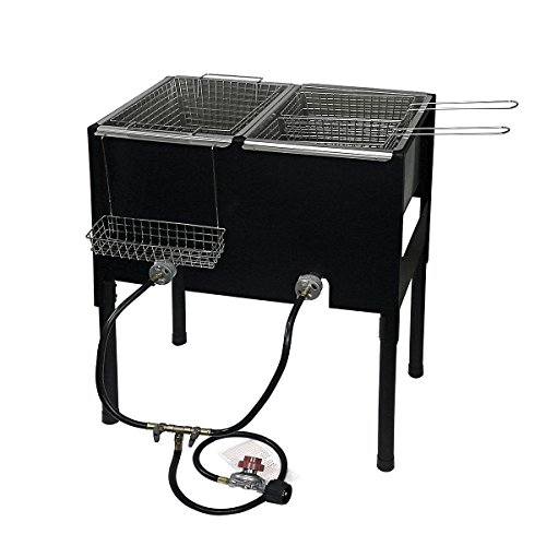 XtremepowerUS High-Pressure Triple Basket Deep Fryer 35