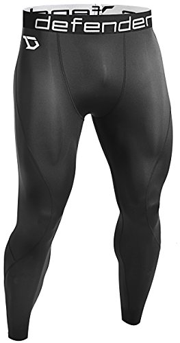 Defender Men's Compression Baselayer Pants Legging Shorts Tights Basketball