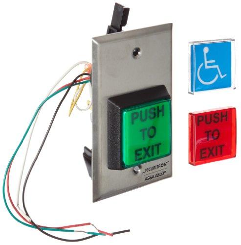 Securitron Push Button (Securitron Square Emergency Exit Button, Single Gang, 2