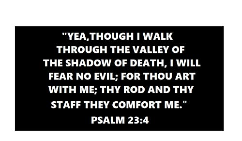 (Bible Psalm 23:4 - Embroidered Patch Iron-on or Sew-on Military Series Tactical Morale Combat Emblem Badge DIY Appliques Application Fabric Patches)