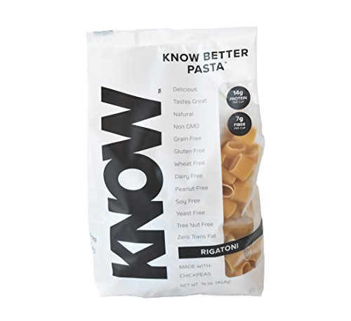 KNOW Foods Better Pasta Rigatoni Bag, 1 Pound