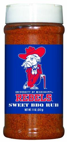 3 Pack MISSISSIPPI (Ole Miss) Rebels Sweet BBQ Rub