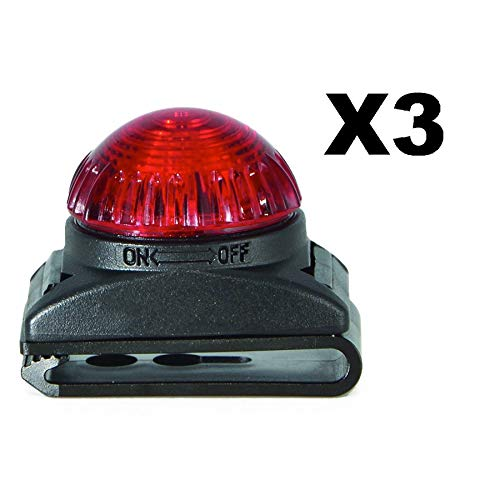 Adventure Lights Guardian Expedition Safety Light Red Running Cycling (3-Pack)