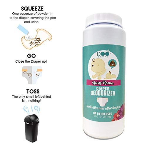 Doo Drops Diaper Odor Eliminator with Easy Applicator- Uses Safe and Powerful Deodorizer, Floral Scents, and Baking Soda to Absorb and Coat Odors - up to 150 Uses by Doo Drops (Image #1)