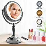 Best Lighted Makeup Mirrors - Lighted Makeup Mirror, 7.5 Inch Vanity Mirror With Review