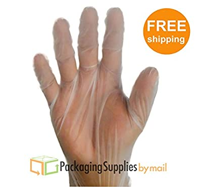 Food Service Powder Free Vinal Gloves 1000 Per Case, Industrial Grade Size: Large (Non Latex Nitrile Vinyl)