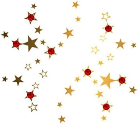 Negro Plata Oro Tatuajes Temporales de estrellas fugaces ...