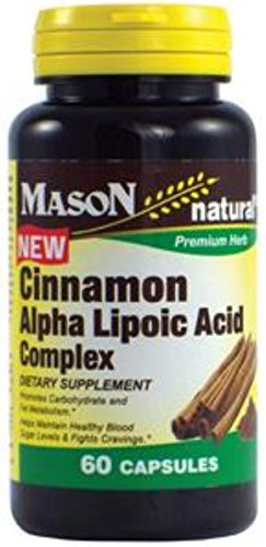 Mason Natural Cinnamon Alpha Lipoic Acid Complex 60 ea (Pack of 12) by Mason Natural