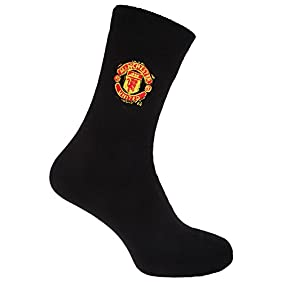 Manchester United FC Official Soccer/Football Crest Thermal Socks (1 Pair)