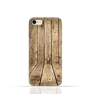 Apple iPhone 7 TPU Silicone Case with Wood Texture Old Panels Pattern