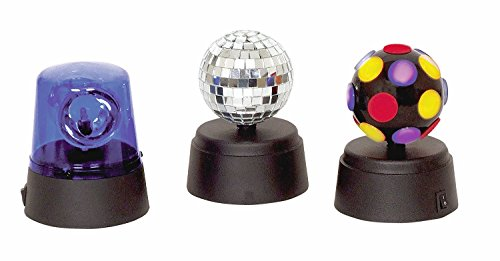 TERUTERU - Mini Disco Ball Rotating Lamp Signal Light Mirrorball Set (Total 3pcs)