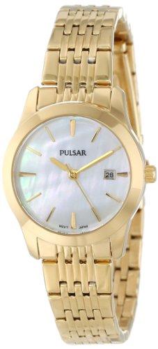 Pulsar Unisex PH7232 Analog Japanese-Quartz Gold Watch