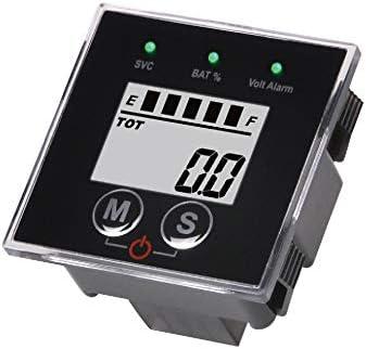 Runleader Medidor de Estado de Carga de batería multifunción de 12V a 48V, medidor de Horas de Mantenimiento,ácido de Plomo,Gel,Hierro de Litio,LiFePO4,troyano,AGM(BI022)