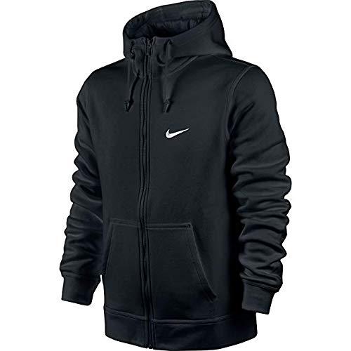 Nike Mens Club Swoosh Hoodie (Black/Black, XX-Large)