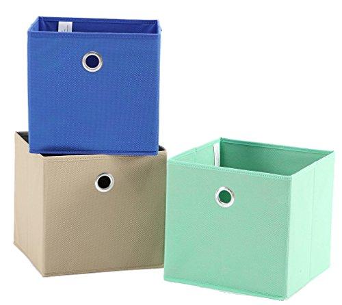 Storage Maniac Set Of 3 Foldable Fabric Storage Bins