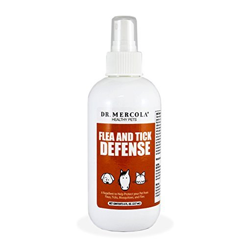 Dr Mercola Flea and Tick Defense - 1 Spray Bottle (8 fl. oz.) - With Essential Oils - Natural Flea and Tick Protection for Pets - Premium Healthy Pet Products