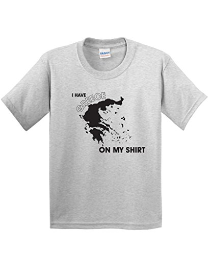 I Have Greece On My Shirt Graphic Geography Funny T Shirt S Ash