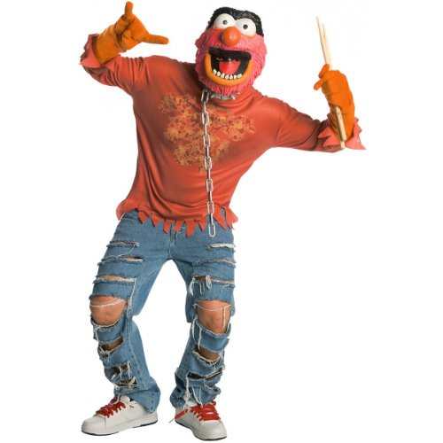 [The Muppets Animal Costume With Mask, Red, Small] (Animal Halloween Costumes Men)