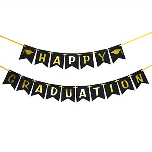 Congratulations Graduate Photo Banner - INNORU Happy Graduation Banner - Class of 2018 - Congrats Graduate Banner - Grad Party Decorations Supplies