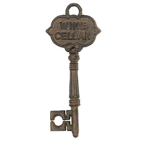 Antique French Jet - HomeOffice Antique Style Decorative Wine Cellar Key  Skeleton Key,Brown