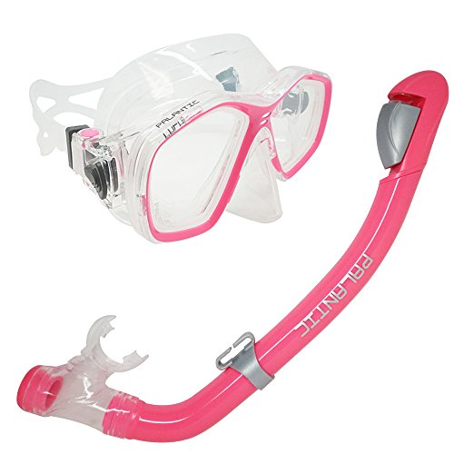 Palantic Pink Jr. Snorkeling Prescription Dive Mask & Dry Snorkel Combo (-2.5)