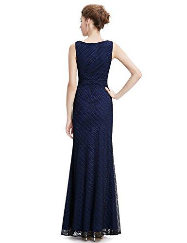 Lang 6UK Pretty Schwarz Elegant Ever Damen Abendkleid Figurbetont Rundhals 7w0nIx1d4q
