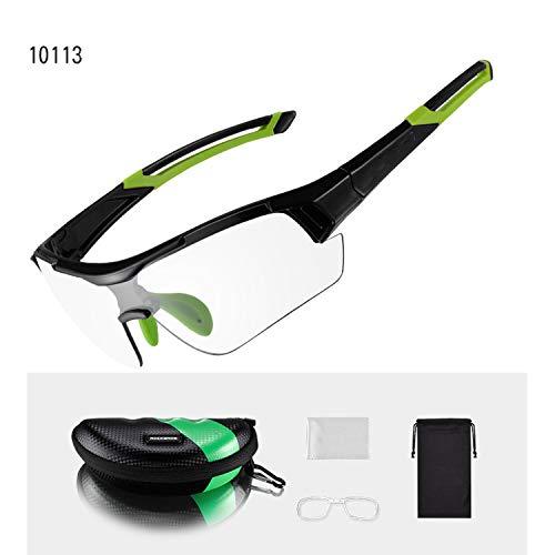 Photochromic Cycling Bicycle Bike Glasses Outdoor Sports MTB Bicycle Bike Sunglasses Goggles Bike Eyewear Myopia Frame,Green