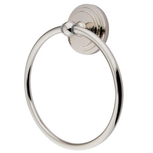 Kingston Brass BA2714PN Milano 6-Inch Towel Ring, Polished Nickel -