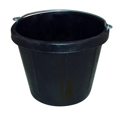 Fortex N400-8 Heavy Duty Rubber Pail without Lip, 8-Quart